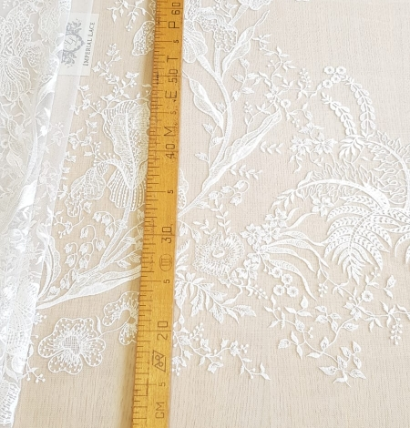Imperial Lace floral organic embroidery on tulle fabric. Photo 10