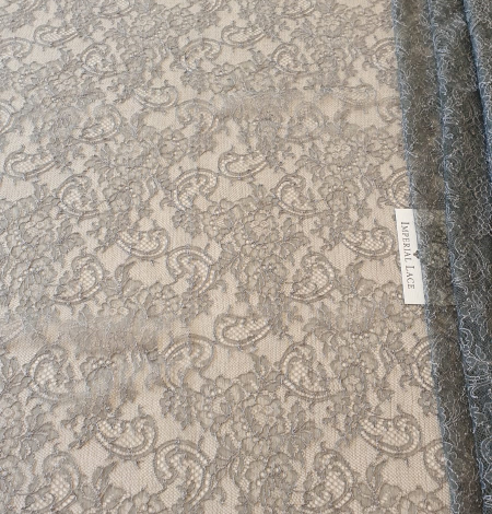 Anthracite lace fabric. Photo 2