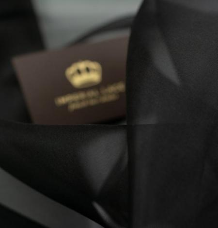 Black silk organza fabric . Photo 9