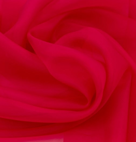 Fuchsia pink silk organza fabric. Photo 4