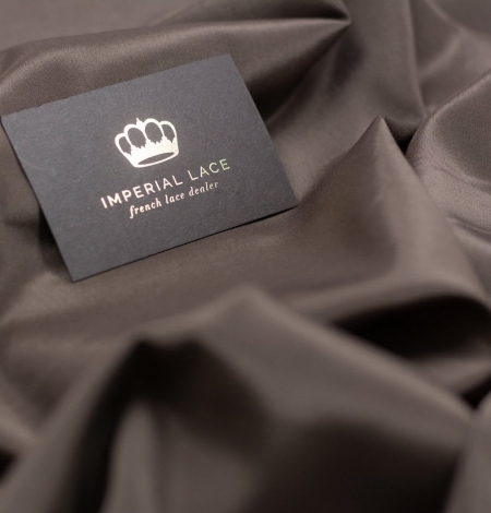 Brown viscose with elastane lining fabric . Photo 1