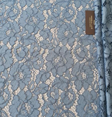 Bluish gray guipure lace fabric. Photo 7