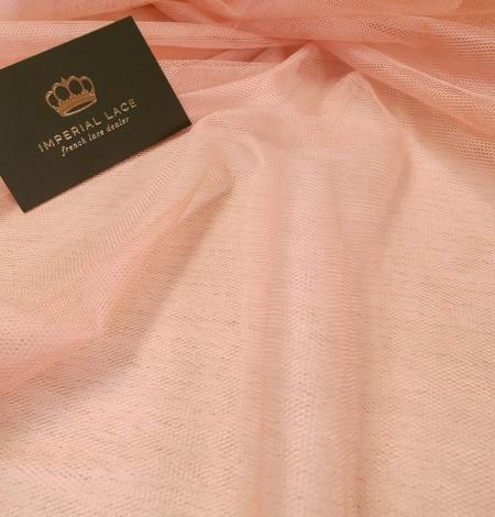 Darkish peachy pink silk tulle fabric. Photo 5