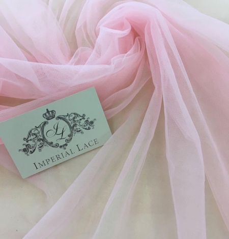 Baby pink tulle fabric. Photo 2