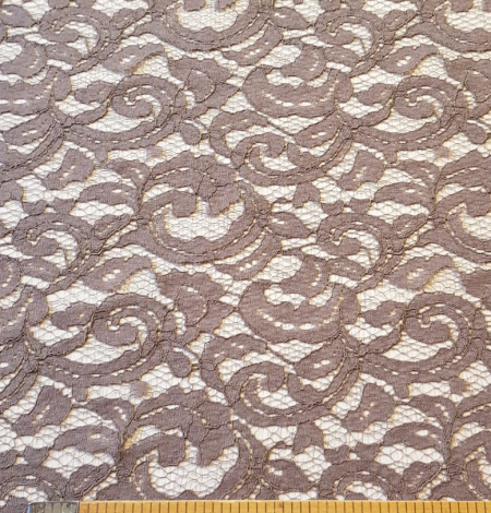 Brown lace fabric. Photo 9