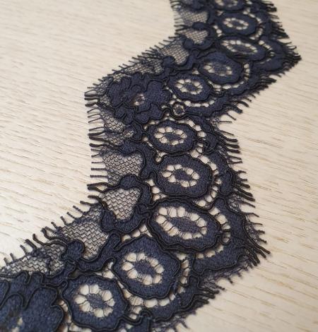 Dark bluish grey guipure lace trimming. Photo 5