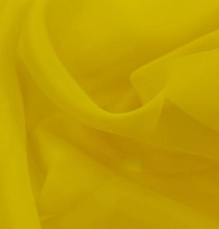 Yellow with green shade silk organza fabric. Photo 4
