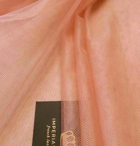 Darkish peachy pink silk tulle fabric. Photo 4
