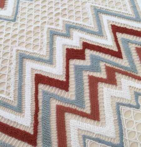 Multicolored lace fabric. Photo 3