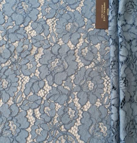 Bluish gray guipure lace fabric. Photo 8