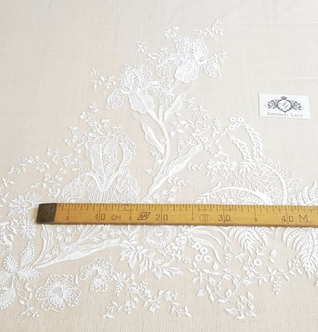 Imperial Lace floral organic embroidery on tulle fabric. Photo 11