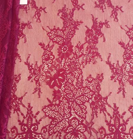 Dark red lace fabric. Photo 3