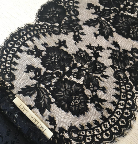 Black lace trimming from France. Photo 1