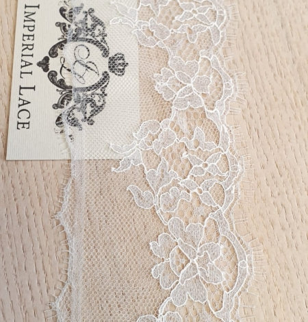 Light grey natural chantilly lace trimming by Jean Bracq. Photo 4