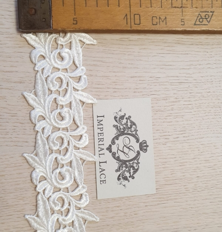 Ivory macrame lace trimming. Photo 4
