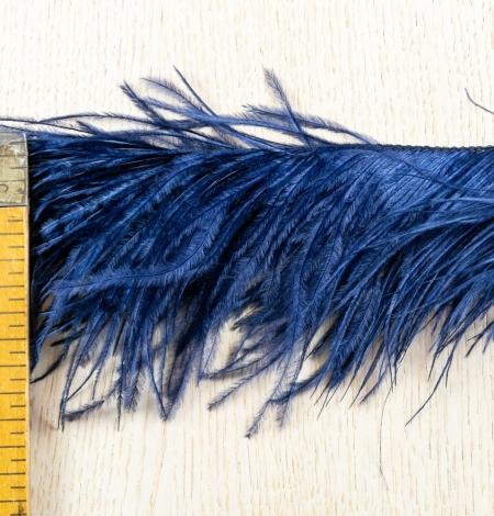 Dark blue natural ostrich feather. Photo 8