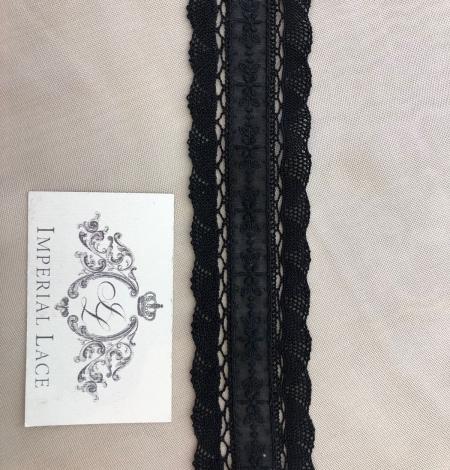 Black lace cotton trimming. Photo 6