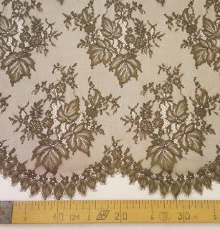 Tobacco green lace fabric. Photo 5