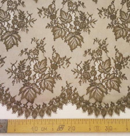 Tobacco green lace fabric. Photo 5