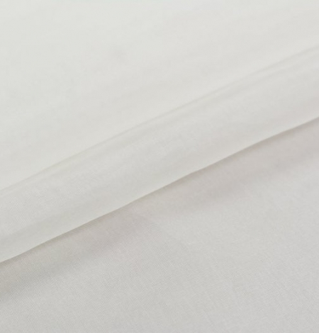 Ivory silk organza fabric . Photo 7