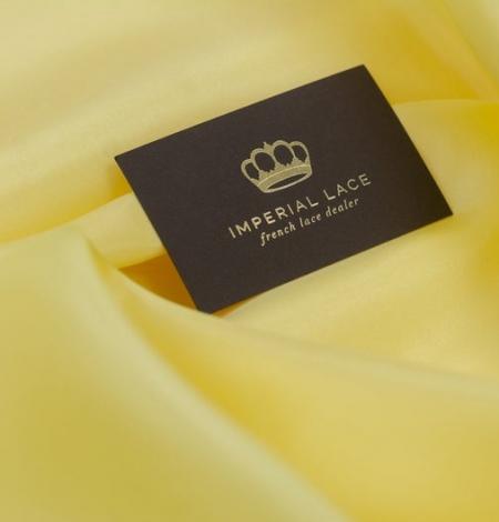 Yellow silk lining fabric . Photo 4