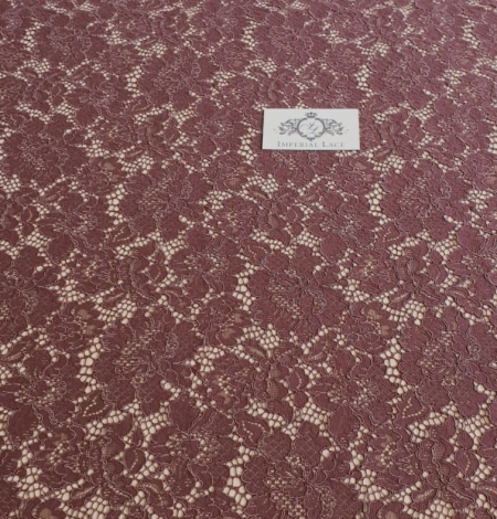 Reddish brown guipure lace fabric. Photo 6