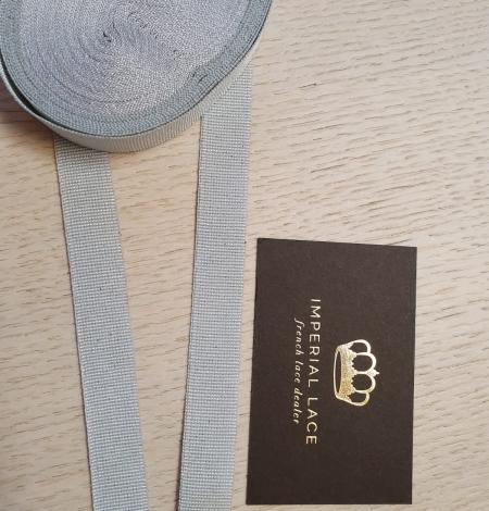 Grey grosgrain viscose ribbon. Photo 7