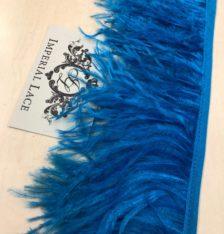 Blue ostrich feathers. Photo 2