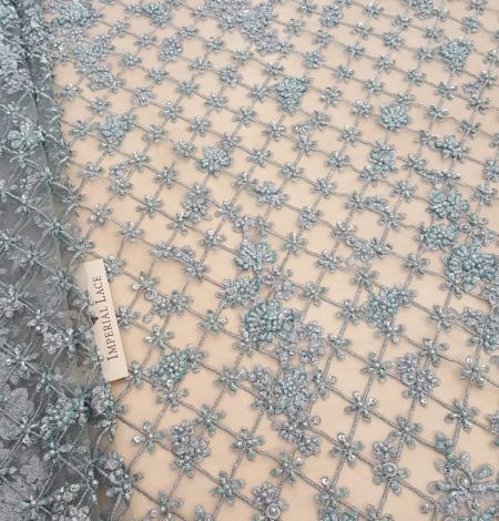 Sea blue beaded lace. Photo 6