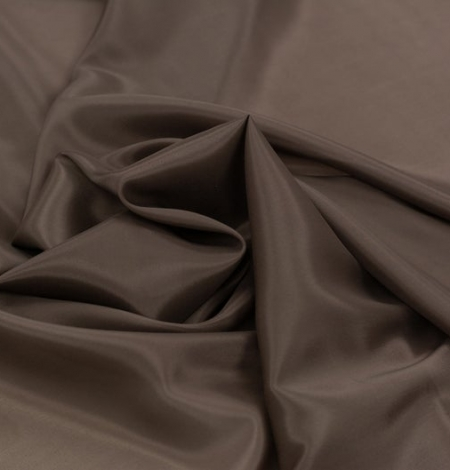 Brown viscose with elastane lining fabric . Photo 4