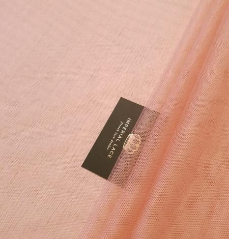Darkish peachy pink silk tulle fabric. Photo 1