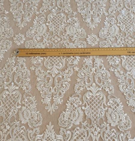 Luxury bridal beaded lace fabric. Photo 6