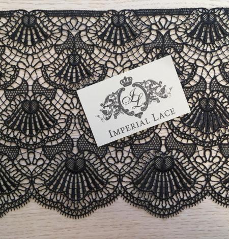 Black macrame lace trimming. Photo 7