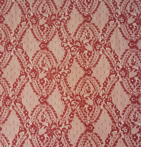 Red lace fabric. Photo 2
