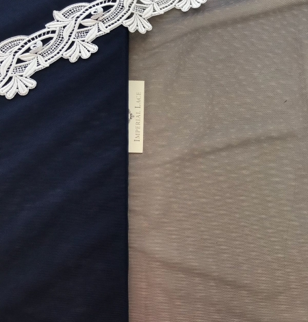 Dark blue tulle fabric. Photo 5