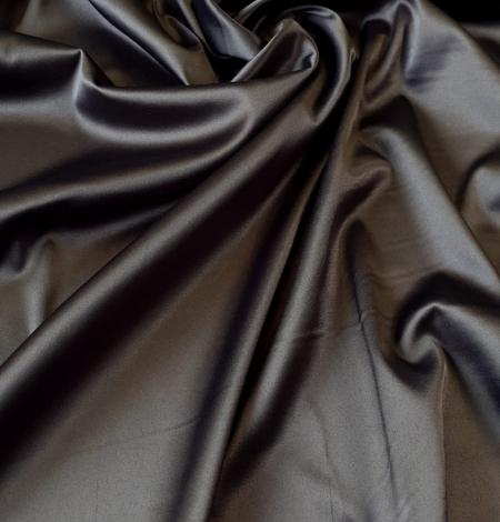 Dark grey satin fabric with elastane . Photo 1