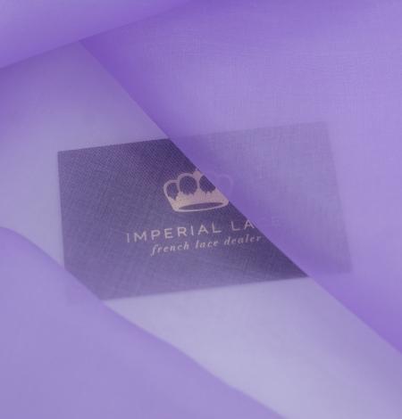 Lilac silk organza fabric. Photo 2