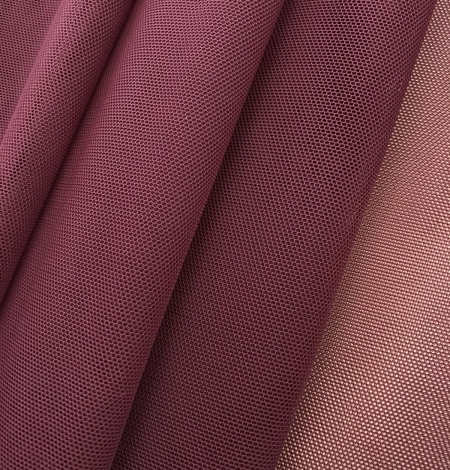 Bordo red tulle fabric. Photo 1