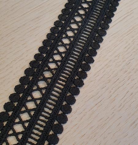 Black guipure lace trimming. Photo 3