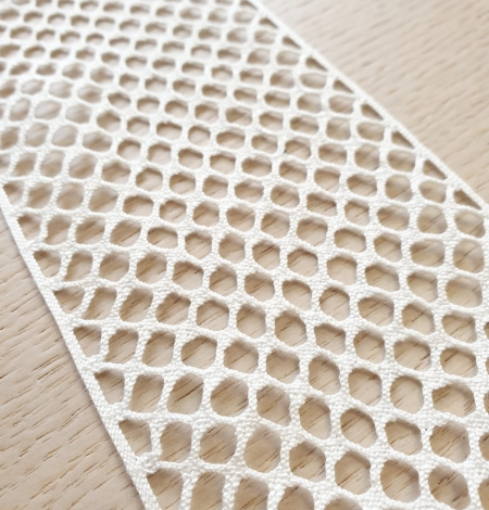 Ivory cotton mesh lace trimming. Photo 3