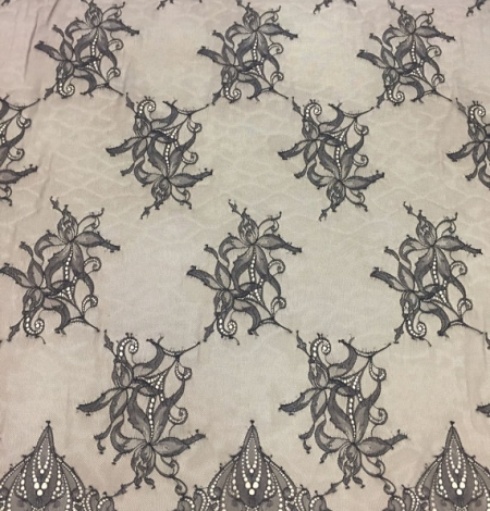 Black lace fabric by the yard. Photo 2