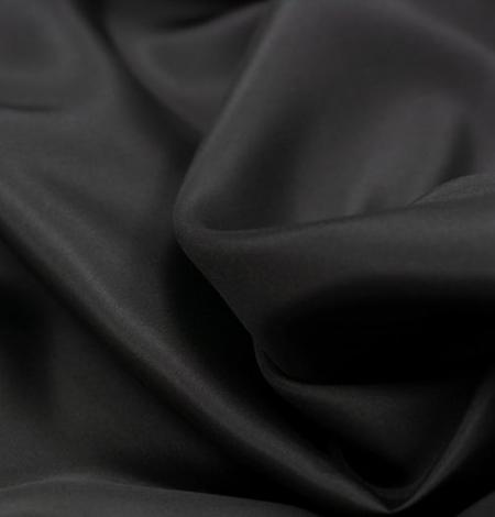 Black grey silk lining fabric . Photo 5