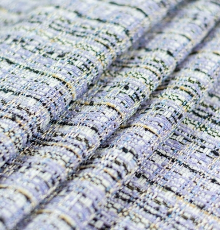 Lilac with blue shade with multicolor tweed fabric. Photo 4