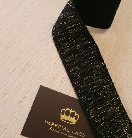 Black with gold rubber ribbon application. Photo 3