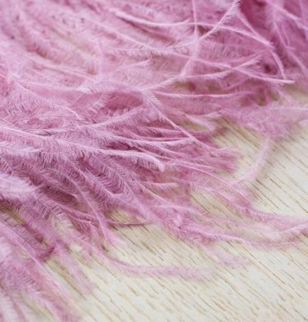 Light raspberry pink natural ostrich feather. Photo 6