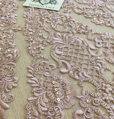 Old rose beaded lace . Photo 3