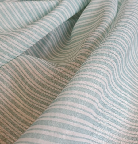 Blue stripes with white viscose fabric. Photo 6