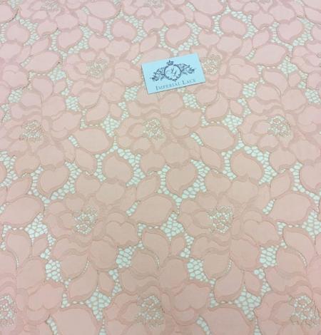 Peach Lace Fabric. Photo 5