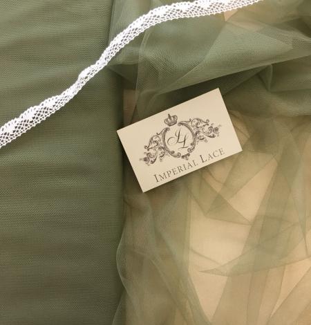 Soft khaki tulle fabric. Photo 1