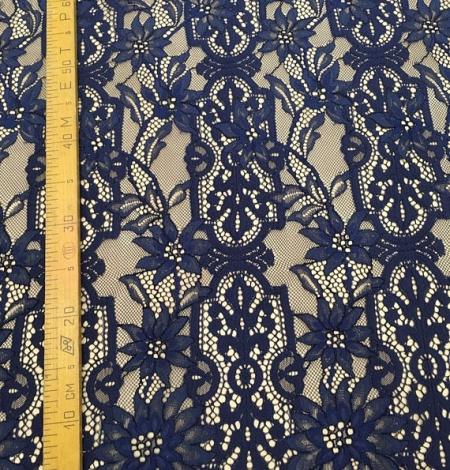 Blue lace fabric. Photo 7